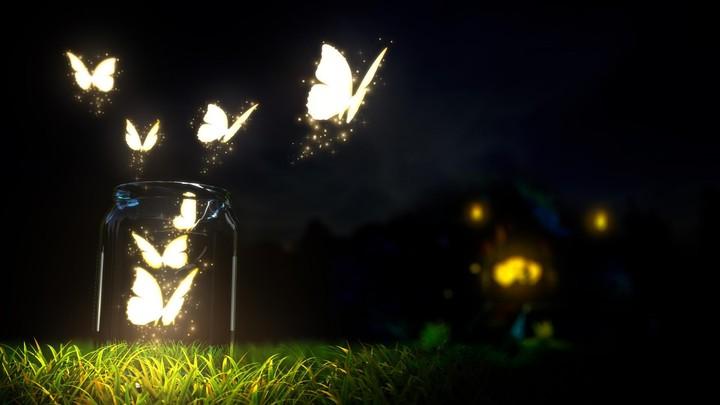 Glowing Butterflies In A Mason Jar Wallpaper By Vdelta