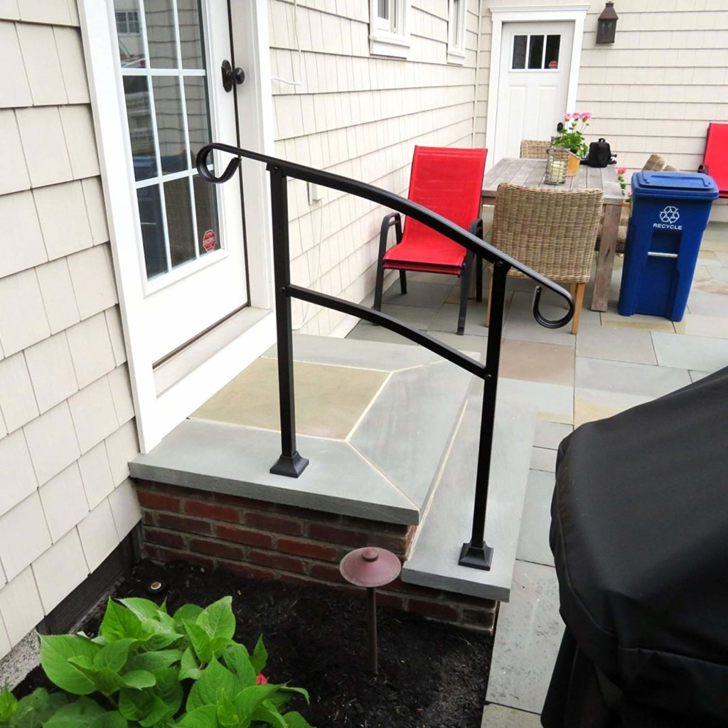 Hand Rail For Outdoor Steps Reviewcel | 3 Step Stair Railing | Manufactured Home | Basic Deck | Residential Stair | 2 Bar | Three Step