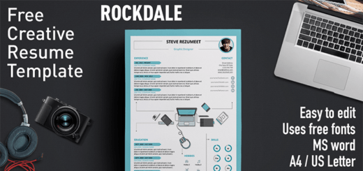 Free Resume Templates With Icons   Rezumeet Rockdale     Creative Resume Template