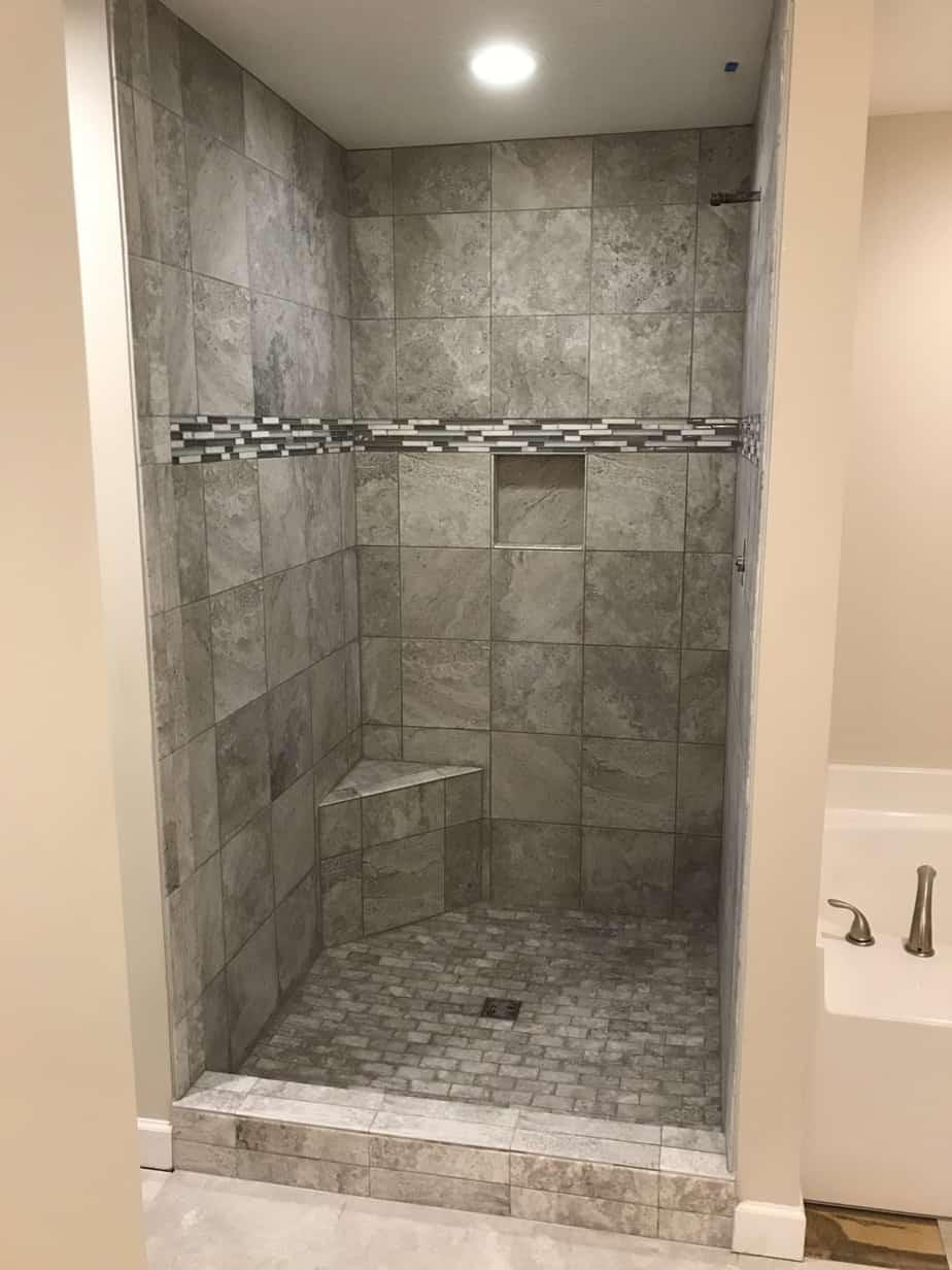 Custom Tile Shower Bridgeport Ohio Riley Home Remodel