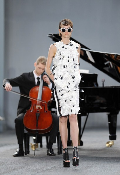 It s all in the mix  the best fashion show music   Telegraph A cellist at the Erdem show during London Fashion Week