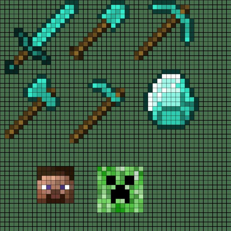 Minecraft Halo Pixel Art