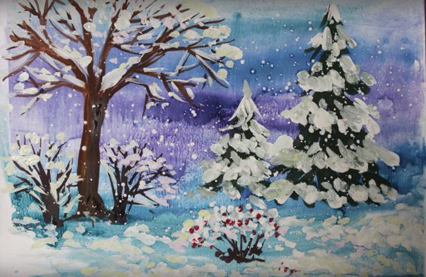 सर्दियों की रात चित्रा पेंसिल, फोटो 1