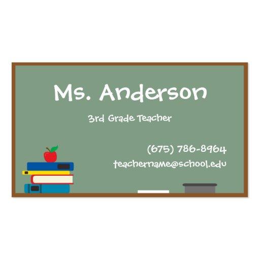 Substitute teacher business card examples colourmoves
