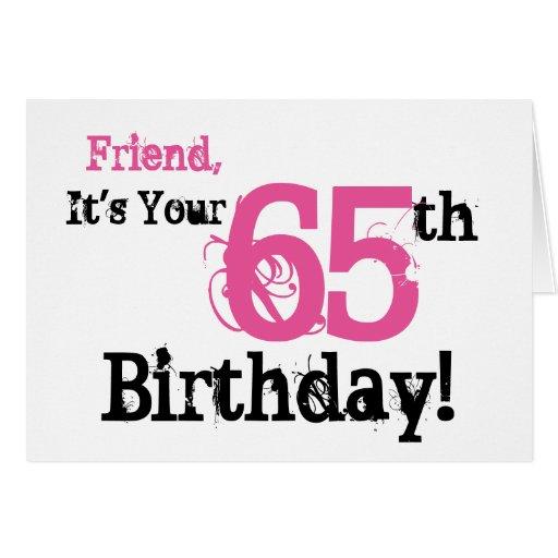 65th Birthday Wishes Friends