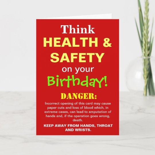 Image of: 50th Birthday Health And Safety Funny Birthday Joke Card Zazzle Health And Safety Funny Birthday Joke Card Zazzlecouk