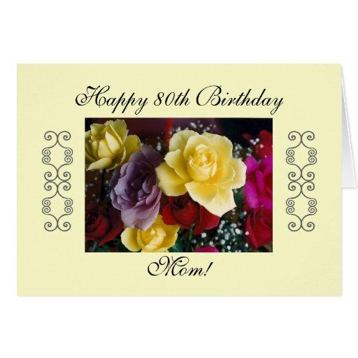 80th Birthday Wishes Mom