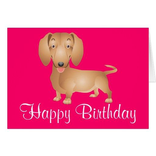 Weiner Dog Birthday Cards Printable