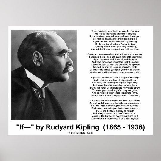 Kipling Poster Rudyard If