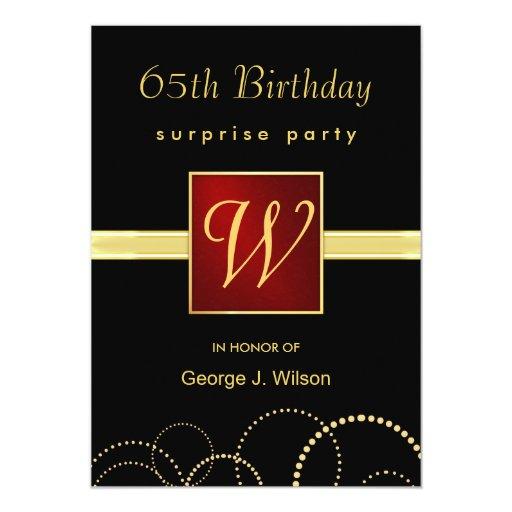 Birthday Invitations 65th