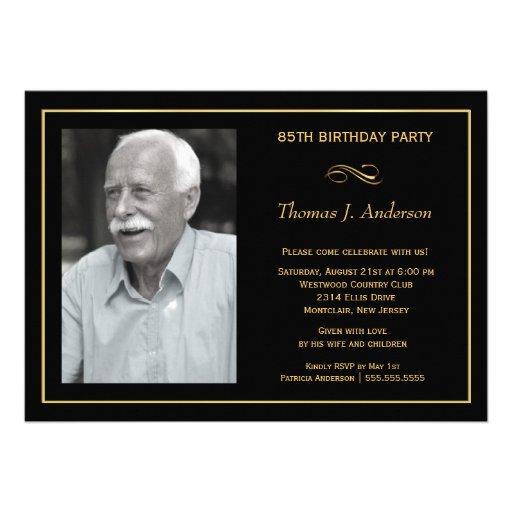 Birthday Invitations 85th