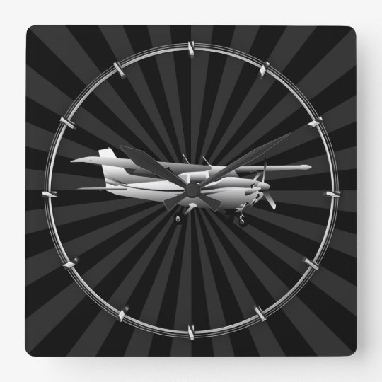 Silhouette Clocks Airplane