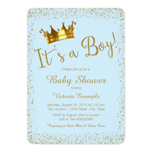 Baby Shower Invitations Gold