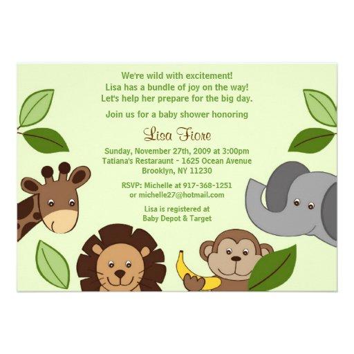 Baby Animal Baby Shower Invitations