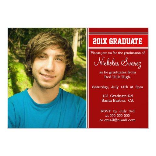 Boy Graduation Invitations