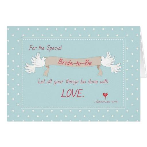 Bridal shower greeting card message m4hsunfo