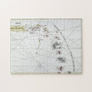 CARIBBEAN  MAP  1775 JIGSAW PUZZLE   Zazzle com CARIBBEAN  MAP  1775 JIGSAW PUZZLE