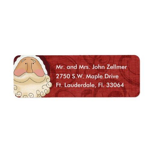 Address Labels Return Christmas