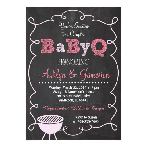 Baby Couples Shower Fun Invitations