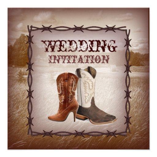 Country Western Wedding Invitations