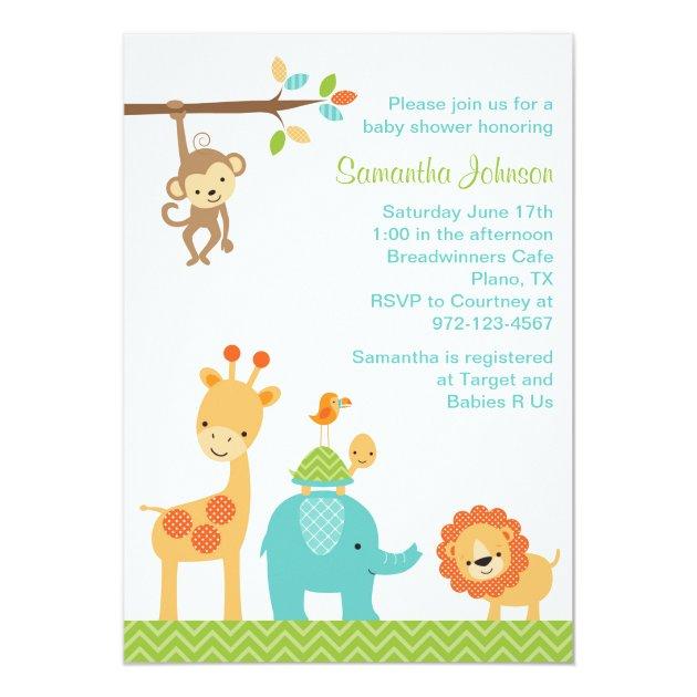 Custom Jungle Invitations