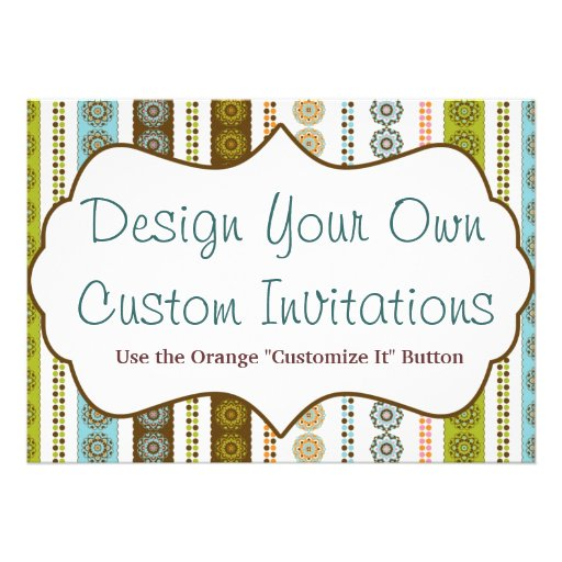 Personalise Your Own Invitations