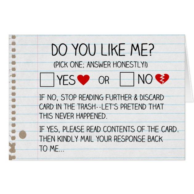 Do You Like Me? Cards | Zazzle.com