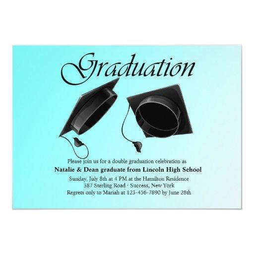 Double Graduation Party Invitations