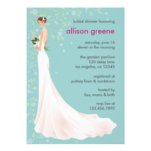 Personalized Wedding Shower Invitations