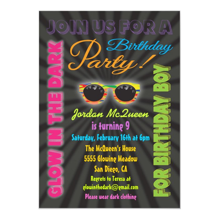 Boy Birthday Party Invitation Template