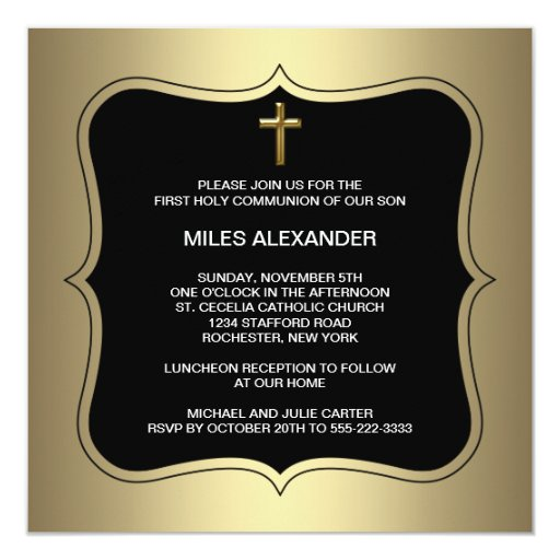 Custom Made Baptism Invitations