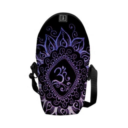 Henna Hindu Symbol hand bag Messenger Bags | Zazzle