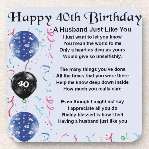 Him Birthday Poems 40th