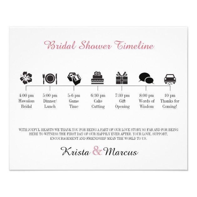 Bridal Shower Program