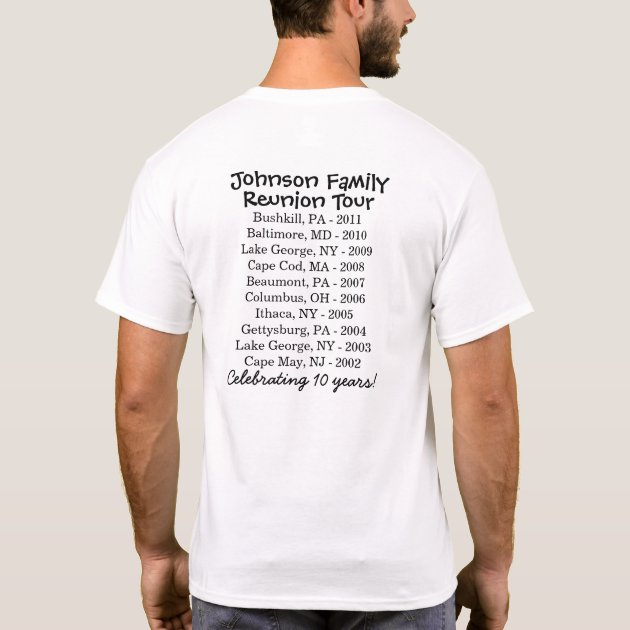 Johnson Family Reunion Tour T-Shirt | Zazzle