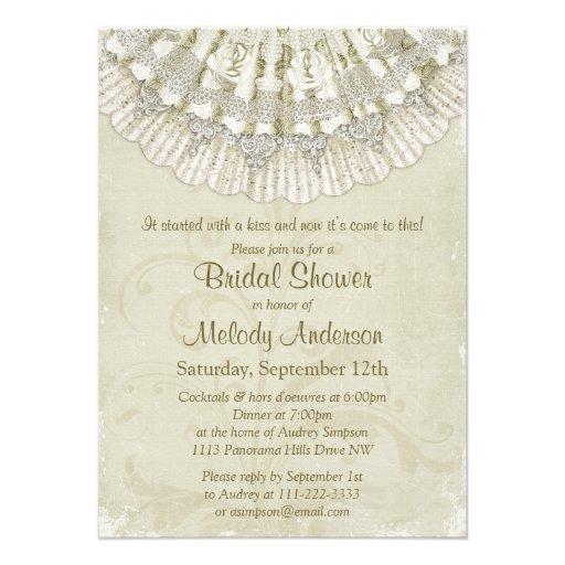 Ivory Bridal Shower Invitations