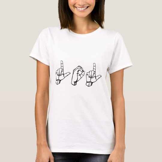 LOL in Sign Language T Shirt   Zazzle com