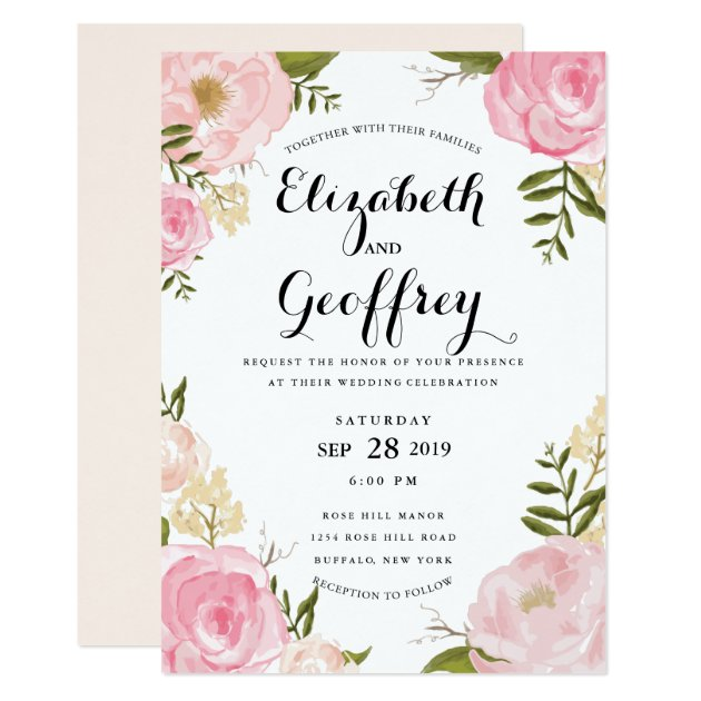 Zazzle Vintage Bridal Shower Invitations
