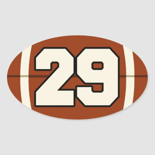 Number 29 Football Sticker | Zazzle