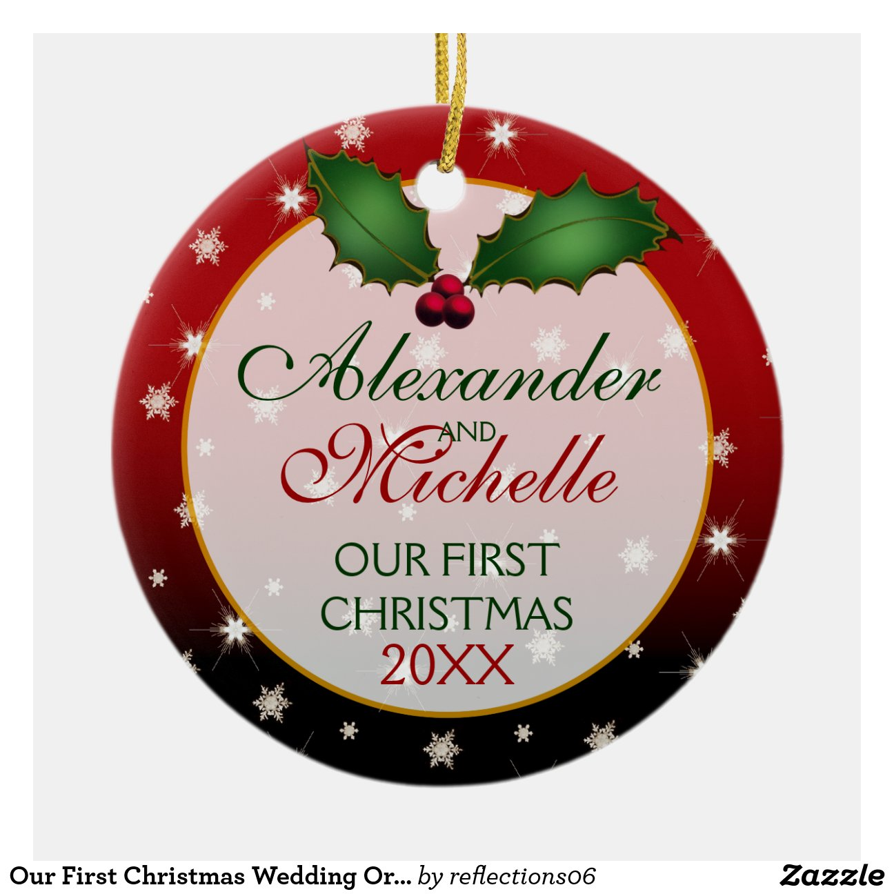 our first christmas married ornament. first married christmas ...