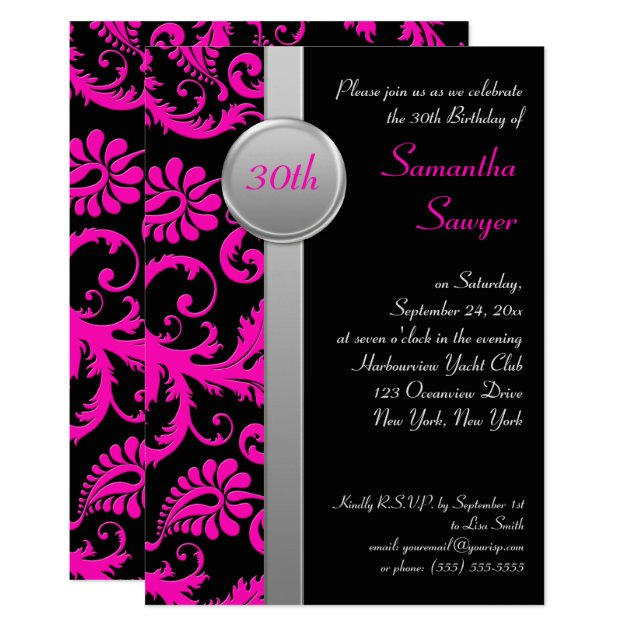 Save Date Cards 30th Birthday