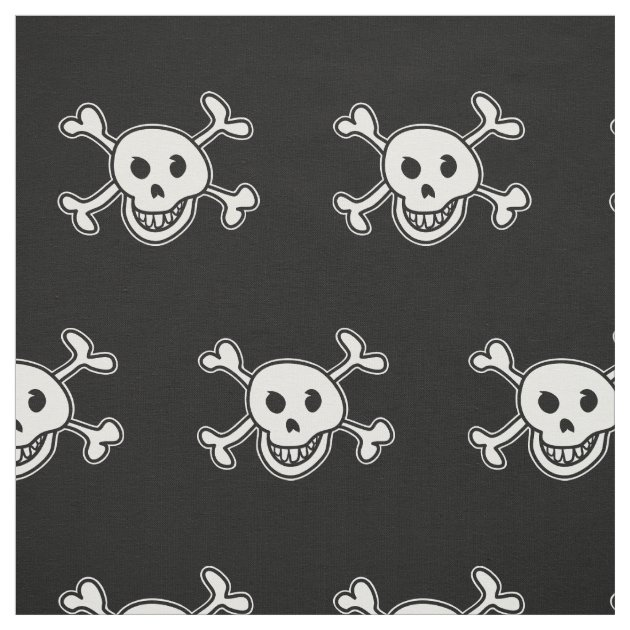 Pirate Flag Skull And Crossbones Pattern Fabric Zazzle Com