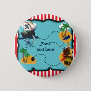 Treasure Map Buttons   Pins   Custom Button Pins   Zazzle Pirate Treasure Map Birthday Party Pin BUTTON