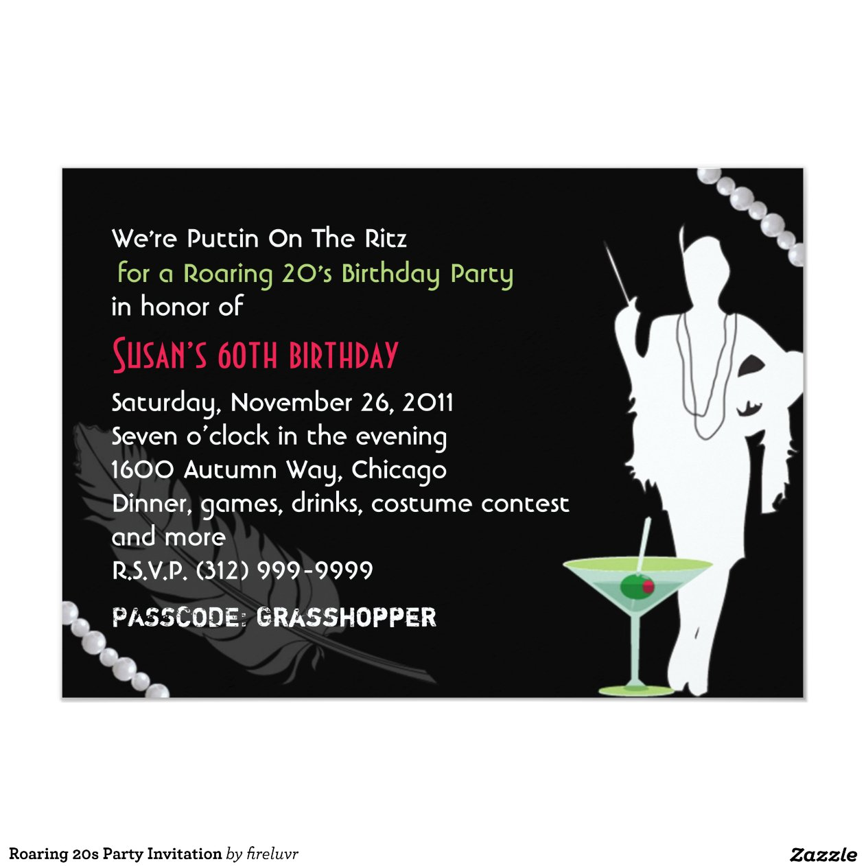 Party Invitation Card Design