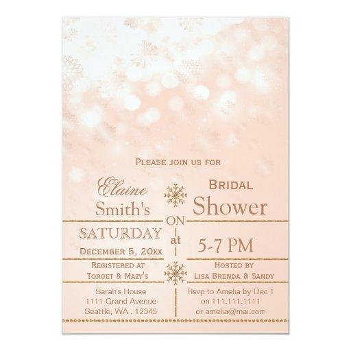 Rose Gold Bridal Shower Invitations