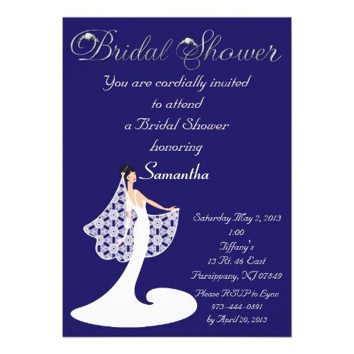 Blue Bridal Shower Invitations