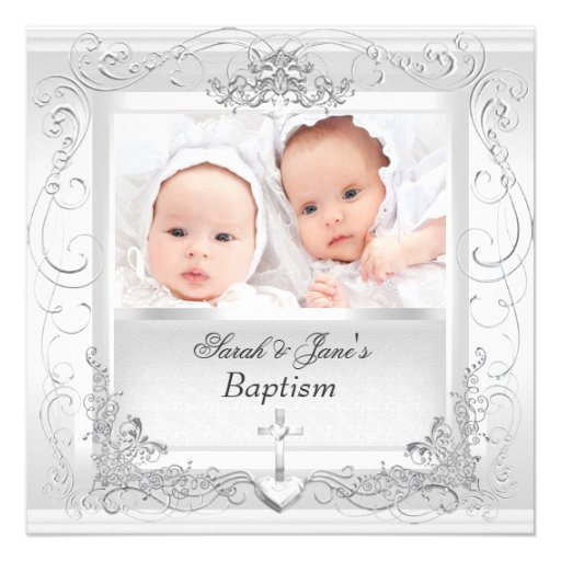 Christening Cards Twin Boys