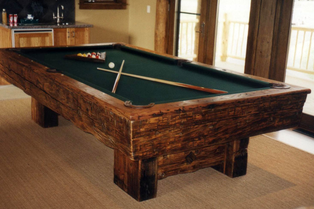 Reclaimed Timber Pool Table Custom Built For Your Home