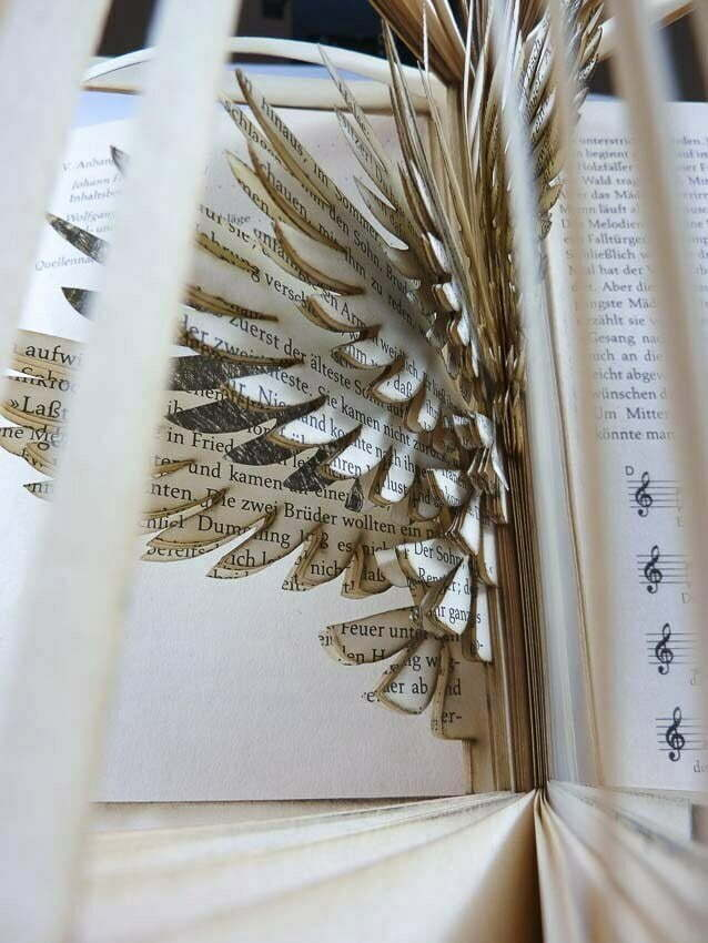 Cutting Books Bird Work Robin Hanhart