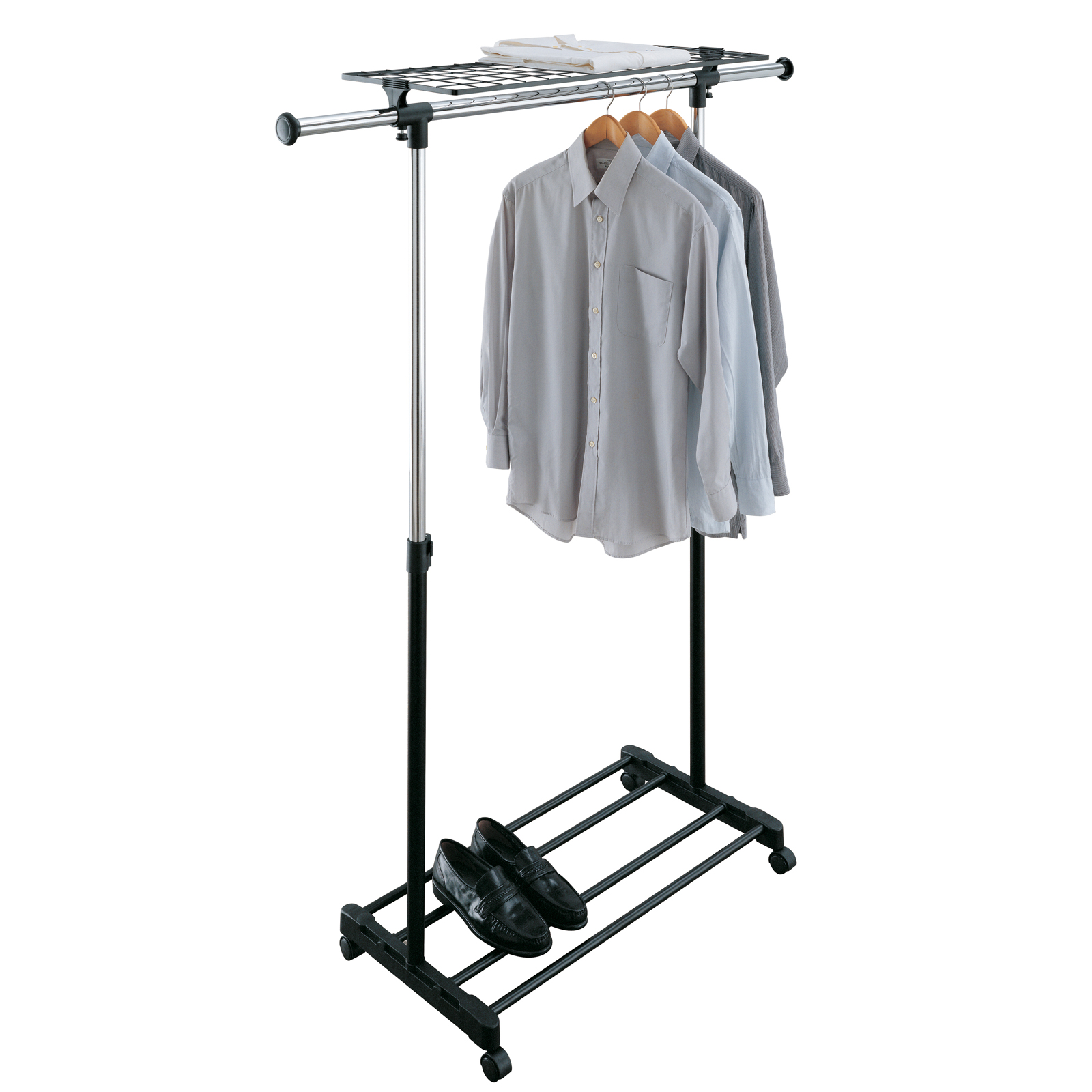 Le Meilleur Adjustable Rolling Clothing Rack In Clothing Racks And Ce Mois Ci